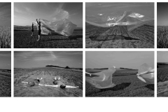 Ágota Krnács - Between earth and Sky only the World is Round, 2013. 30x42cm, Giclée print, 8 pieces series